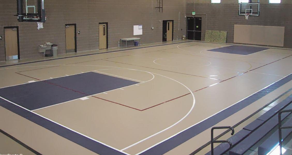 Normsport poliüretan zemin kaplama spor salonu